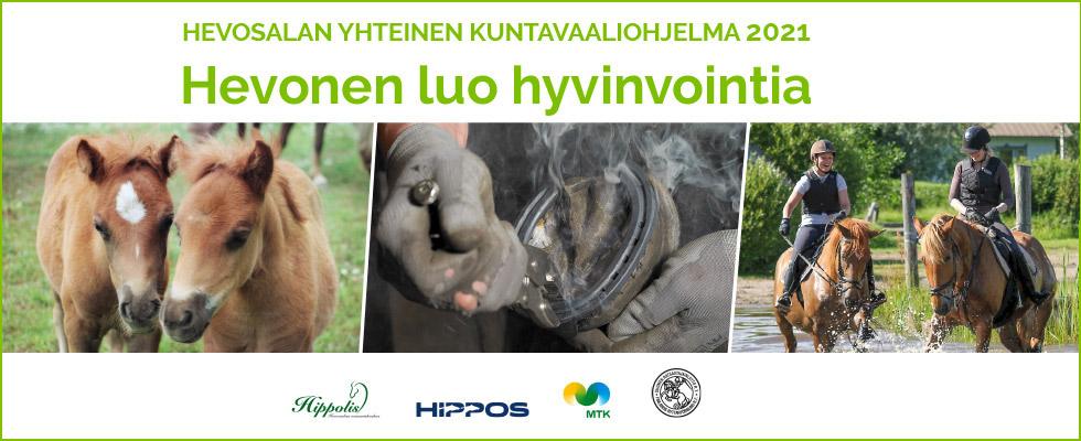 Mainos hevosalan yhteisestä kuntavaaliohjelmasta