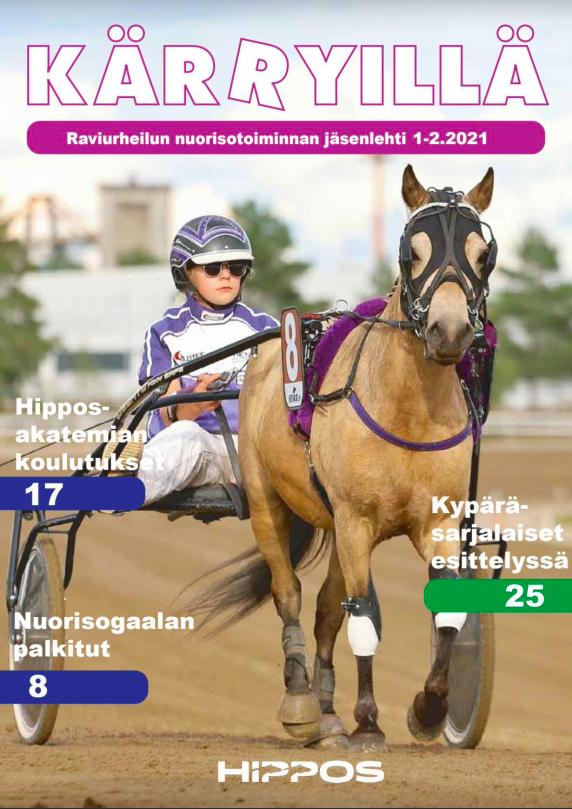 Kesäkuussa Kärryillä-lehti ilmestyi kaksoisnumerona. Lehden kansikuvavaljakkona toimivat Hietarannan Romeo ja Alina Myllymäki. Kuva: Hippos / Kaisa Stengard.