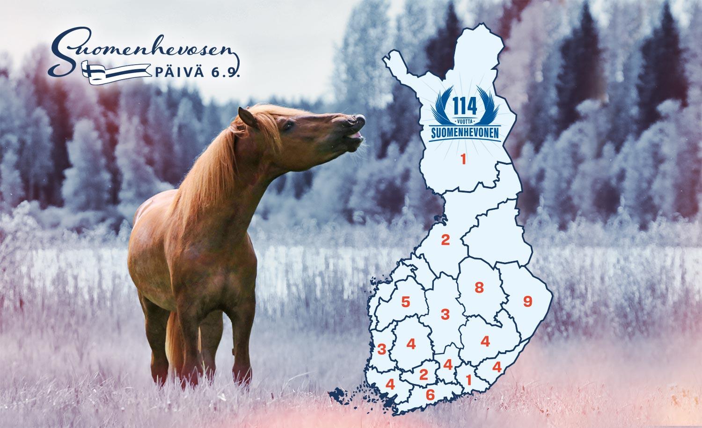 suomenhevosen päivän yleisötapahtumat kartalla